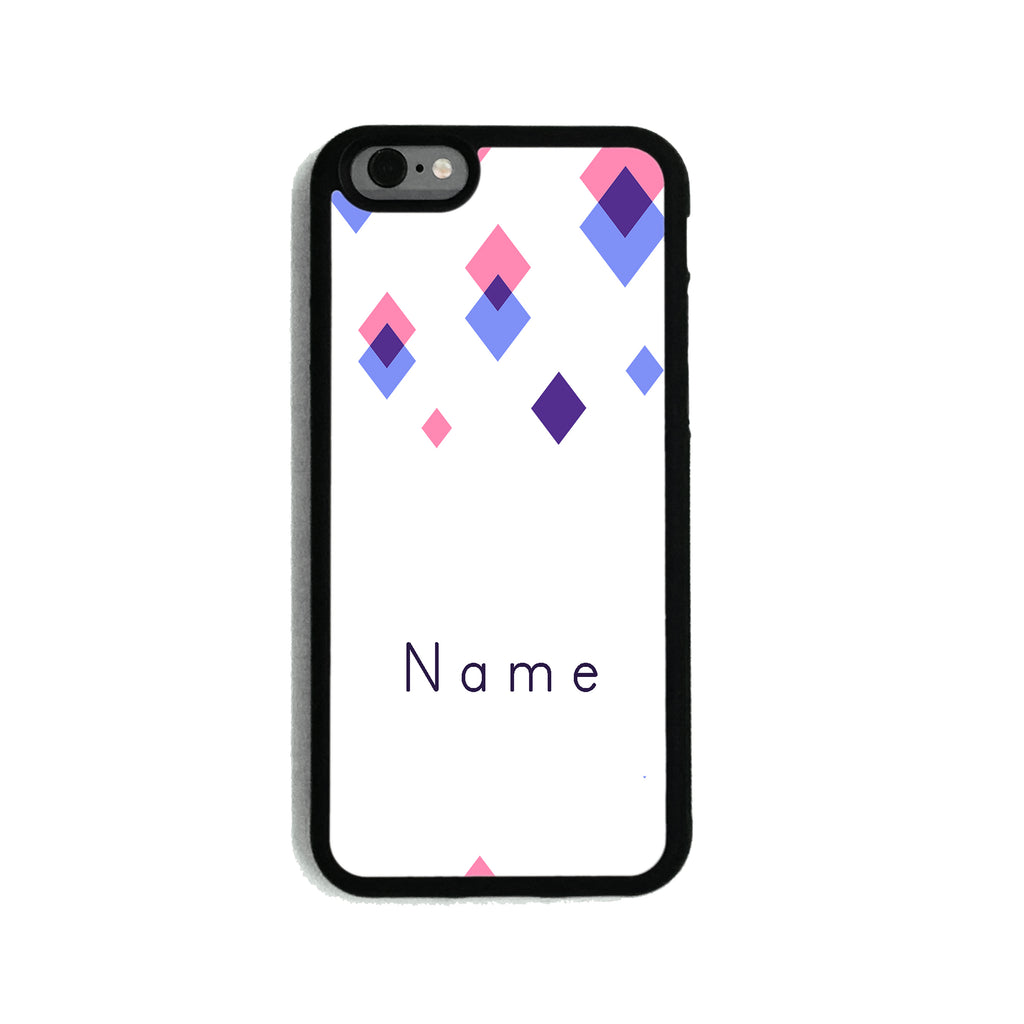 Pink & Purple Overlapping Diamonds - 2D Clip Case - Ai Printing