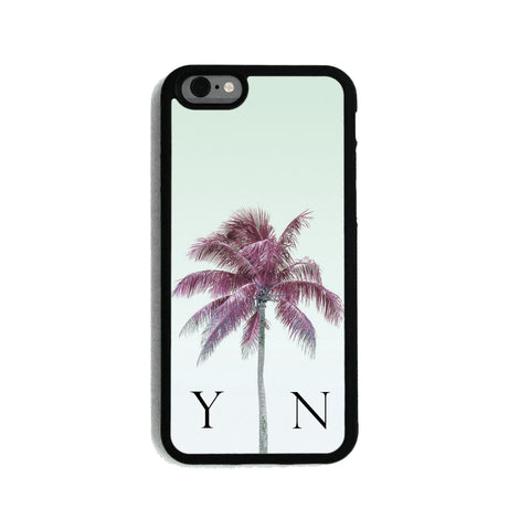 Green Sky & Grape Palm Tree   - 2D Clip Case - Ai Printing