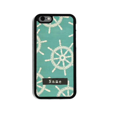 Teal Nautical Pattern - 2D Clip Case - Ai Printing