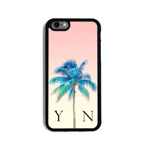 Peach Sky & Blue Palm Tree - 2D Clip Case - Ai Printing