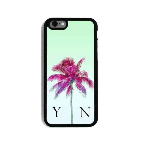 Green Sky & Pink Palm Tree   - 2D Clip Case - Ai Printing