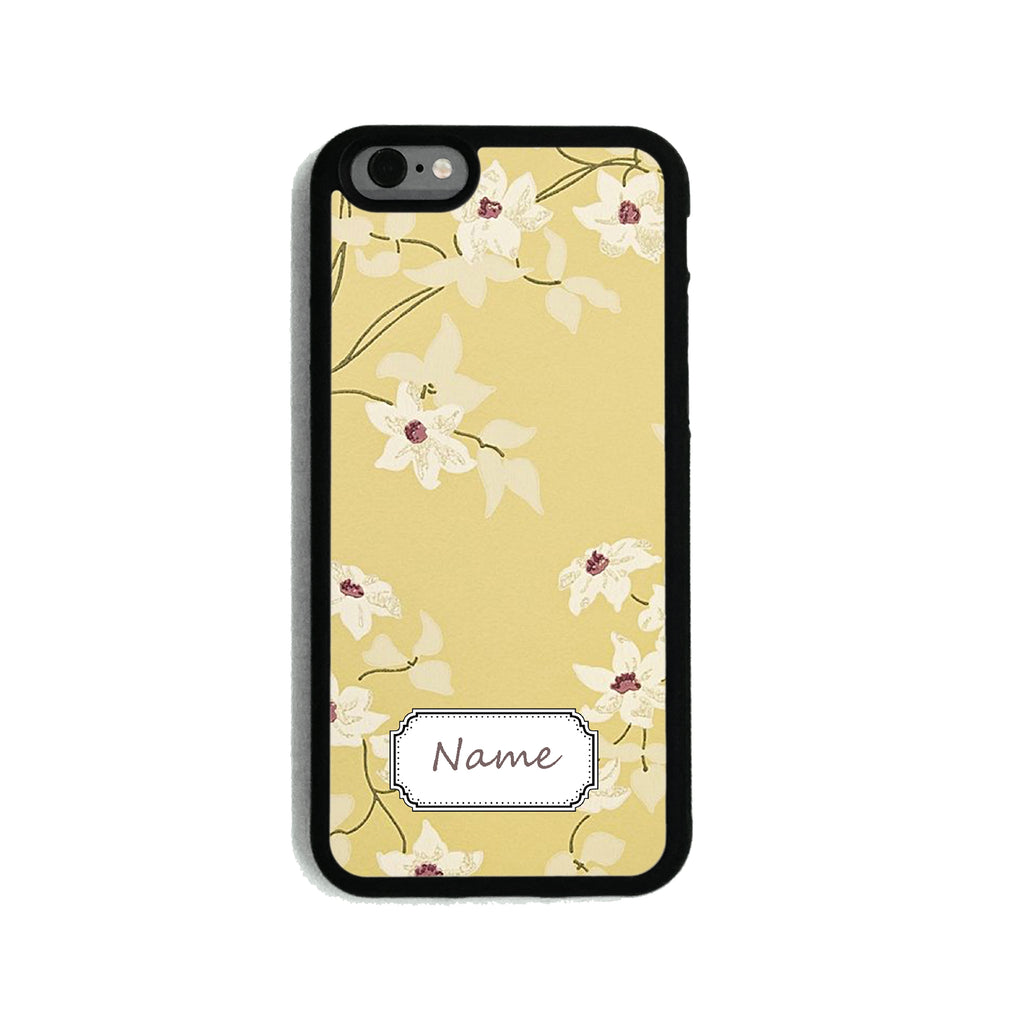 Floral Light Mustard   - 2D Clip Case - Ai Printing