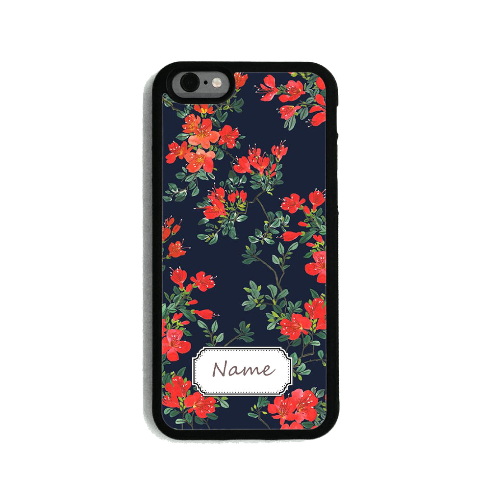 Floral Navy & Red   - 2D Clip Case - Ai Printing