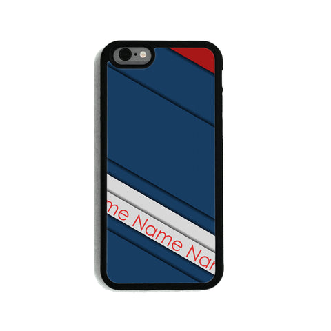 Navy Red Stripes - 2D Clip Case - Ai Printing