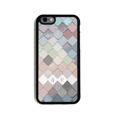 Pastel Fish Scales - 2D Clip Case - Ai Printing