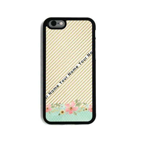 Gold Stripes & Flowers   - 2D Clip Case - Ai Printing