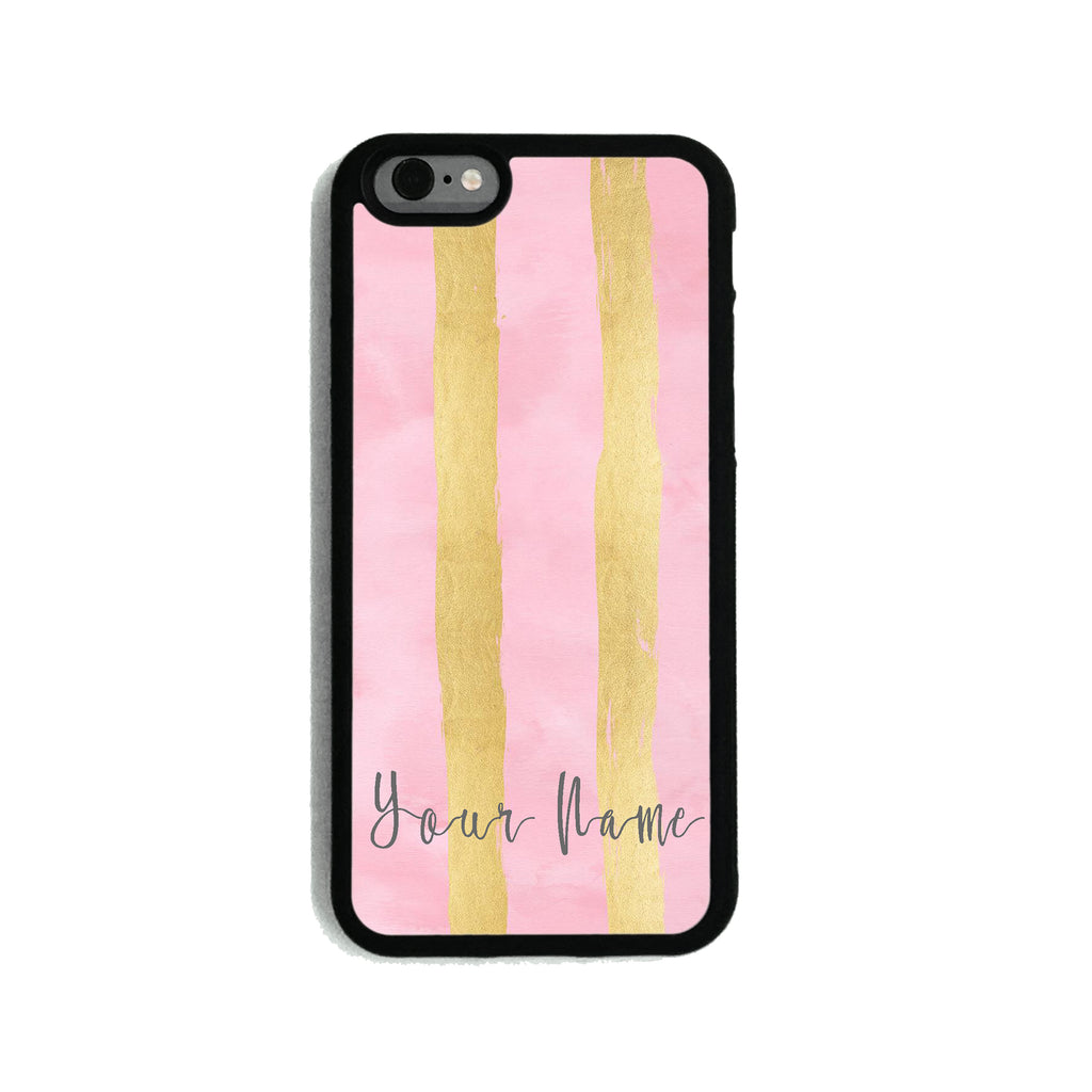 Pink Gold Stripes - 2D Clip Case - Ai Printing