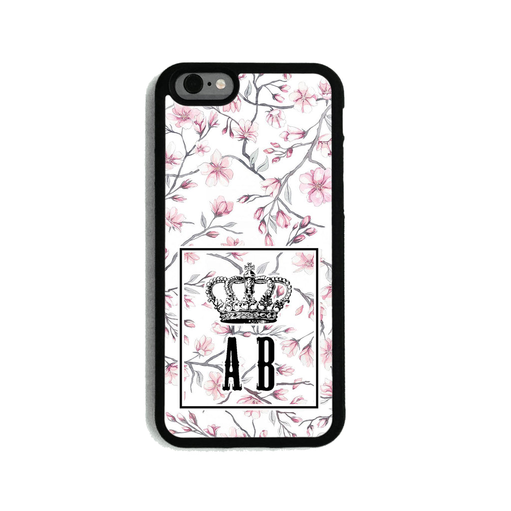 White Pink Flower Crown - 2D Clip Case - Ai Printing