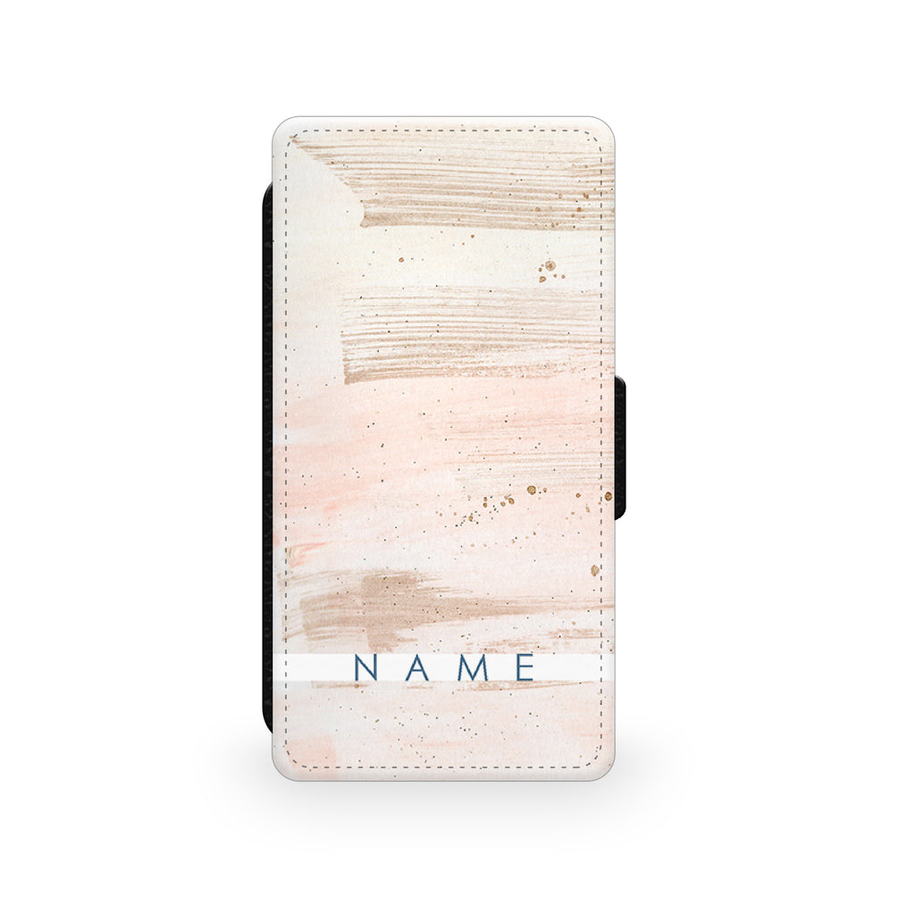 Pink Paint - Faux Leather Case - Ai Printing