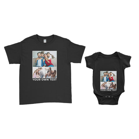 Personalised Photo Kids T-Shirt and Baby Bodysuit - Ai Printing