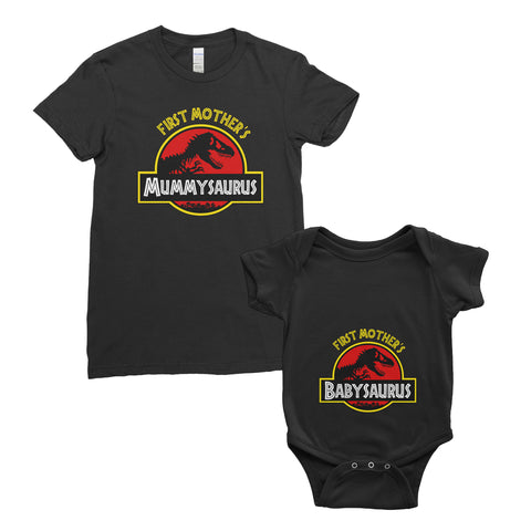 Personalised My First Mother's Day T-Shirt Mummysaurus Babysaurus Mum Baby Bodysuit Onesie Mother's Day Gifts