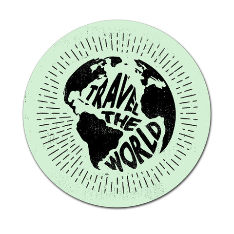 Travel The World - Round Coaster - Ai Printing