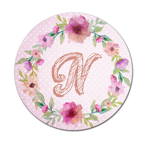Pink Floral Watercolours - Round Coaster - Ai Printing