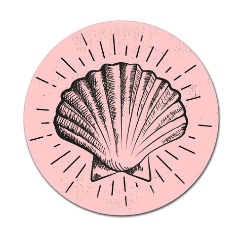 Sea Shell - Round Coaster - Ai Printing