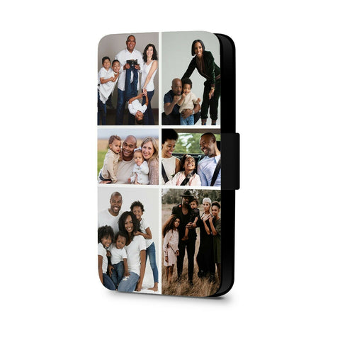 Personalised Phone Case Faux Leather Flip Case