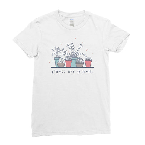 Plants Are Friends- T-shirt - Womens - Ai Printing