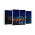 Castelmezzano Italian Village Night View 4 Panel Canvases - Landscape - Ai Printing