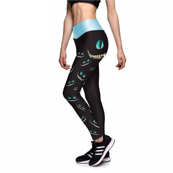 Ladies' Dark Chessur Performace Leggings - FeetyWeety