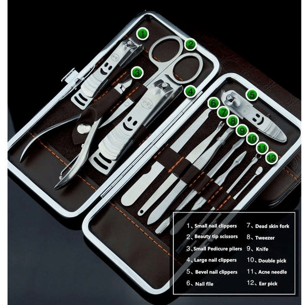 All in One, Premium 12 pc. Nail Care Set - FeetyWeety