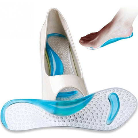 Orthopedic Silicone Gel Insoles With Arch Support - FeetyWeety