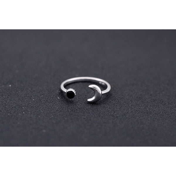 Sterling Silver Dark Side Of The Moon Toe Ring - 925 - FeetyWeety