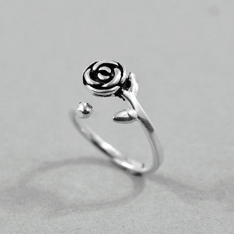 Sterling Silver Scarlet Rose Toe RIng - 925 - FeetyWeety