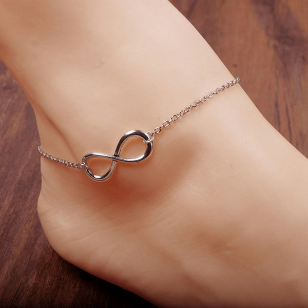 Infinity Chain Gold & Silver Fine Anklet - FeetyWeety