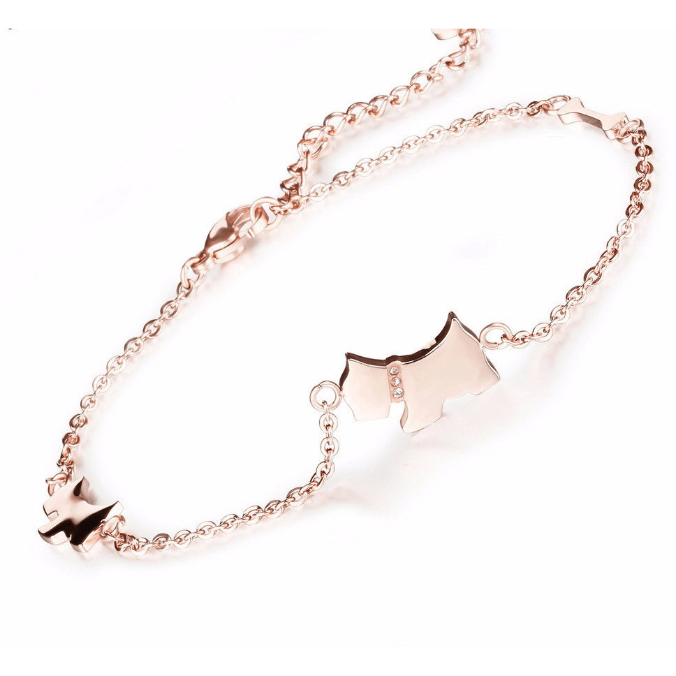 the yard rose by anklet cz b plated gold bezel