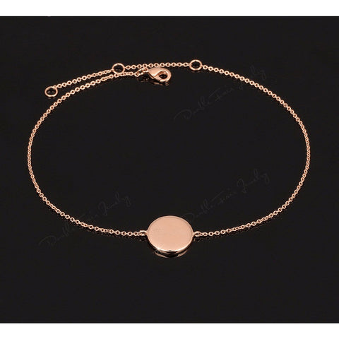 Fine Rose Gold Plated First Love Anklet - FeetyWeety
