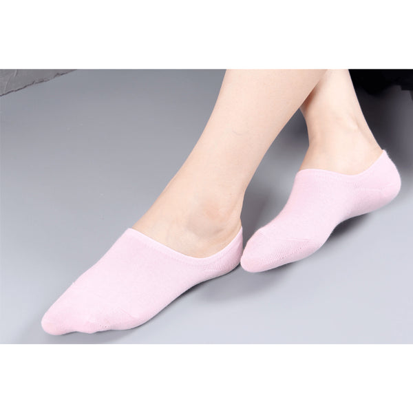 Classic Ladies Invisible Cotton Gel Socks - 10 Variants - FeetyWeety