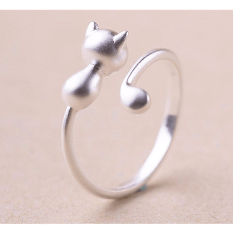 Sterling Silver Baby Kitty Toe Ring - 925 - FeetyWeety