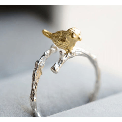 Sterling Silver Antique Gold Plated Canary Toe Ring- 925 - FeetyWeety