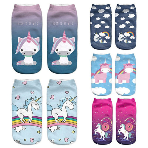 Ladies' Ultimate Crazy Unicorn Socks Collection - 21 Variants - FeetyWeety