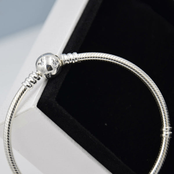 Sterling Silver Minnie Mouse Smooth Chain Ankle Bracelet - 925 - FeetyWeety