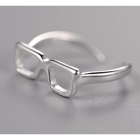 Sterling Silver 'Le Me' Glasses Toe Ring - 925 - FeetyWeety