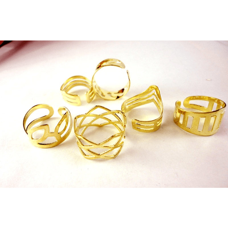 Mixed Toe Ring Gold Set - 20 Pieces - FeetyWeety