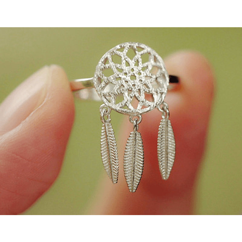 Sterling Silver Dreamcatcher Toe Ring - 925 - FeetyWeety