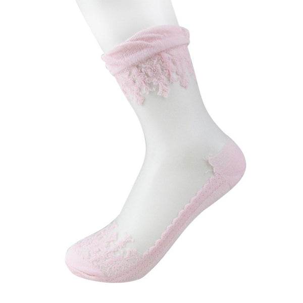 Ultrathin Crystal Silk Lace Ladies' Socks - 6 Variants - FeetyWeety