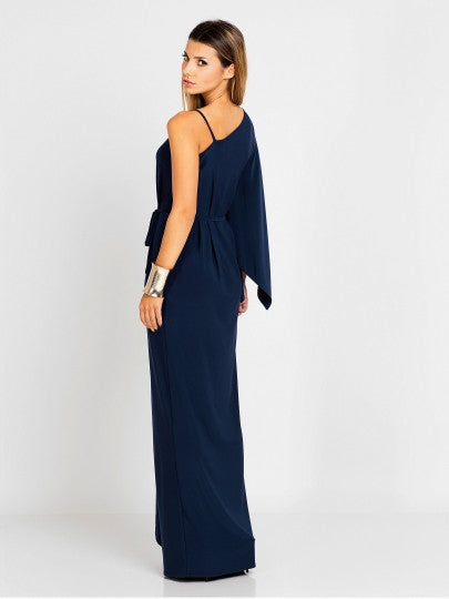 V-Neck Off Shoulder Dress