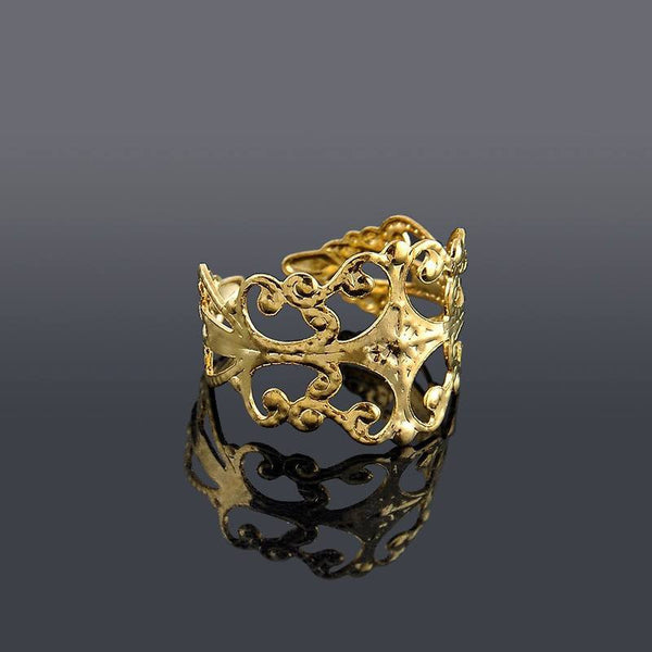 Classic Gold & Silver Royalty Toe Ring - FeetyWeety