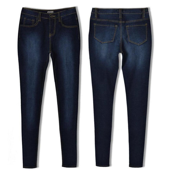 High Waist Stretch Casual Denim Skinny Jeans
