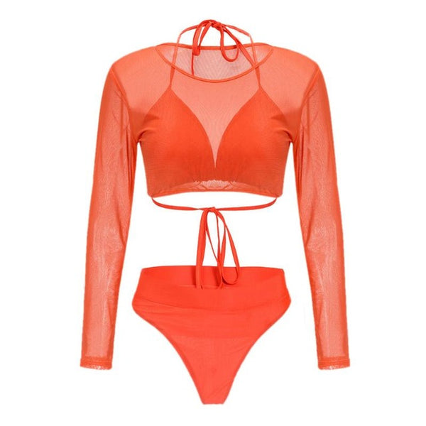 Who's That Girl 3-Piece Swimsuit