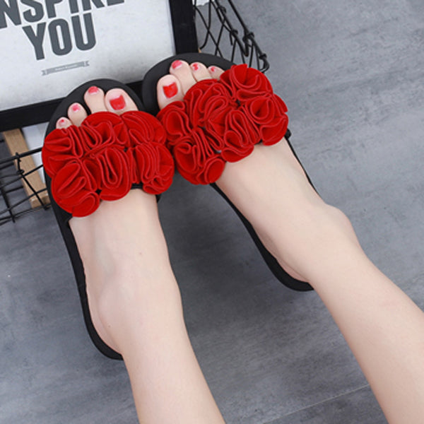 Beach Ready Flower Summer Sandals