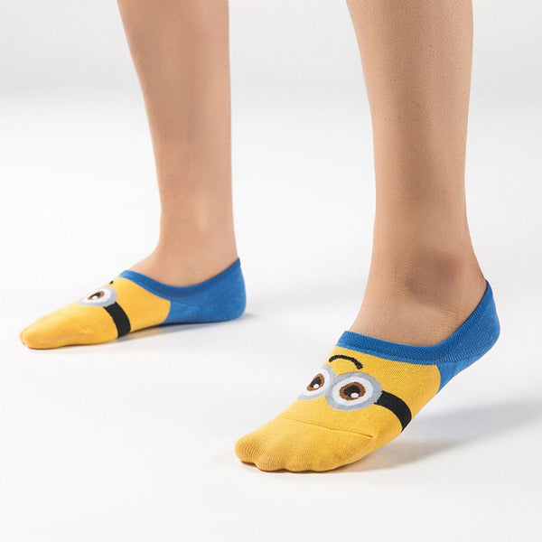 Ladies' Invisible Minions Ankle Socks - 5 Variants - FeetyWeety
