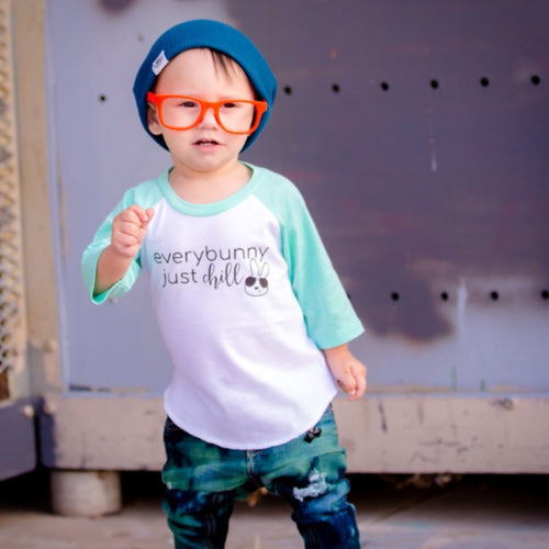 everybunny just chill mint kids Easter raglan