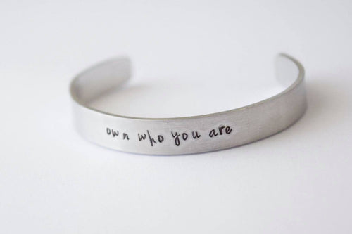 Own who you are silver cuff bracelet