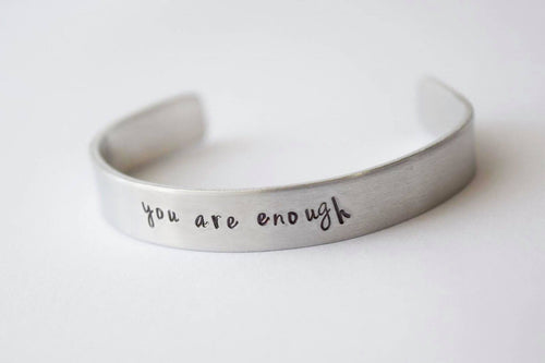 You Are Enough Toddler and Youth Bracelet Cuff