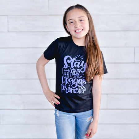 Kind Hearts Make a Kind World Tee - Black Design