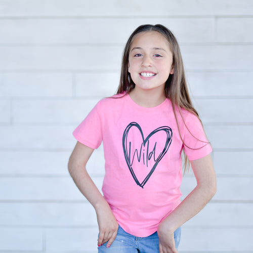 Wild at Heart Pink Flash Tee  |  Black Ink