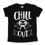 Chill Out Sloth Black Tee